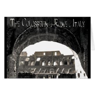El Colosseum - la Roma Italia Tarjeta De Felicitación
