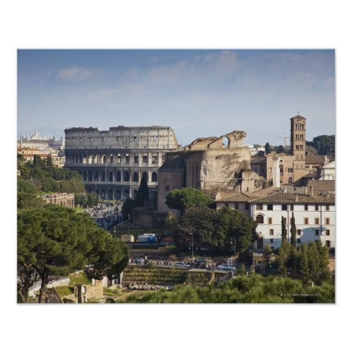 él Colosseum o coliseo romano, originalmente Impresiones