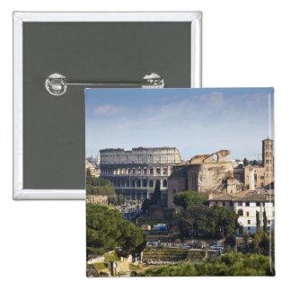 él Colosseum o coliseo romano, originalmente Pin Cuadrada 5 Cm
