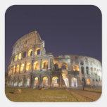El Colosseum o el coliseo romano, originalmente Calcomanía Cuadradas Personalizada