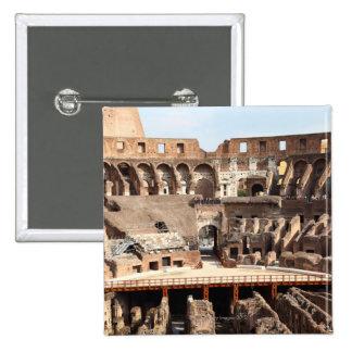 El Colosseum o el coliseo romano, originalmente Pin Cuadrada 5 Cm