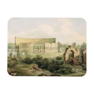 El Colosseum, Roma, 1802 (w/c sobre el grafito en  Imanes Rectangulares