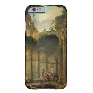 El Colosseum, Roma (aceite en lona) Funda De iPhone 6 Barely There