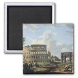 El Colosseum y el arco de Constantina Imán Para Frigorifico