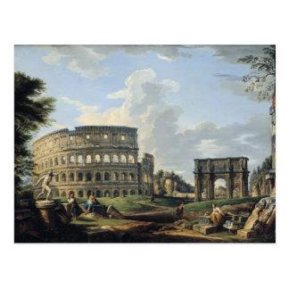 El Colosseum y el arco de Constantina Postal