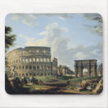 El Colosseum y el arco de Constantina Tapetes De Ratones