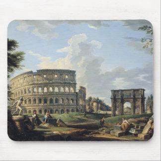 El Colosseum y el arco de Constantina Mouse Pad
