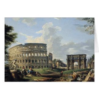 El Colosseum y el arco de Constantina Tarjeta De Felicitación
