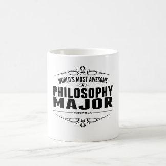El comandante más impresionante de la filosofía taza básica blanca