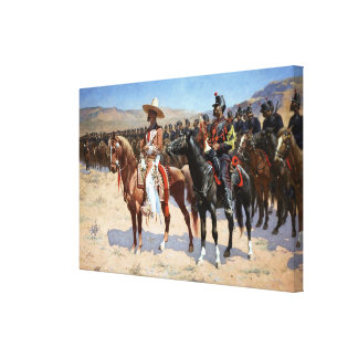 El comandante mexicano de Federico Remington (1889 Lona Estirada Galerias