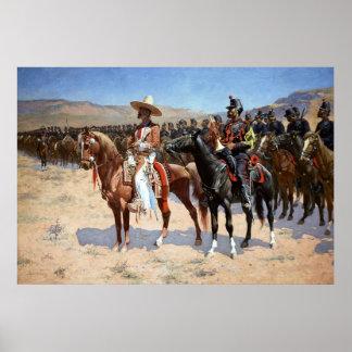 El comandante mexicano de Federico Remington (1889 Póster