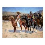 El comandante mexicano de Federico Remington (1889 Postal