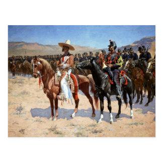 El comandante mexicano de Federico Remington Postal