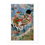 El combate de Krishna con INDRA, c.1590 Postal