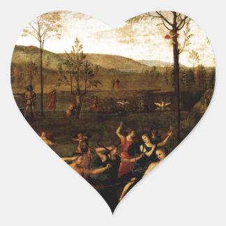El combate del amor y de la castidad de Andrea Pegatina En Forma De Corazón