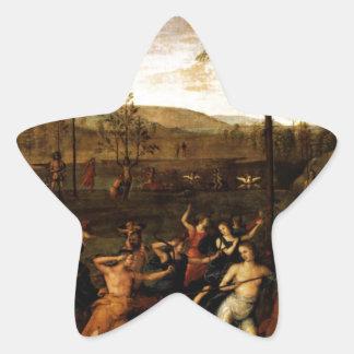 El combate del amor y de la castidad de Andrea Pegatina En Forma De Estrella