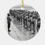 El combate uniforma Gasmasks Ornaments Para Arbol De Navidad