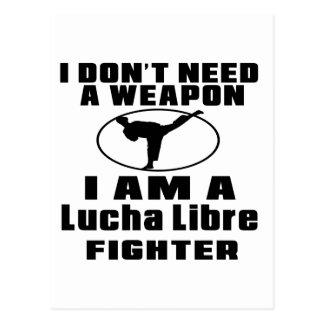 El combatiente de Lucha Libre no necesita el arma Tarjetas Postales