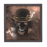 El combatiente del cráneo caja de recuerdo de calidad