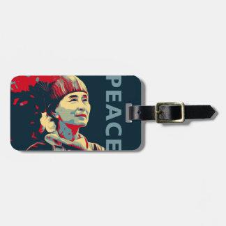 El COMBATIENTE - etiqueta del equipaje de Aung San Etiquetas De Maletas