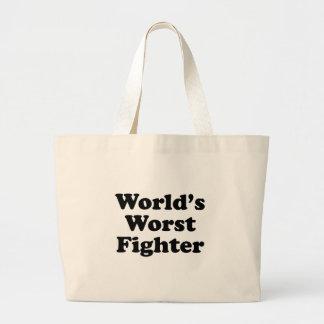 El combatiente peor del mundo bolsa tela grande