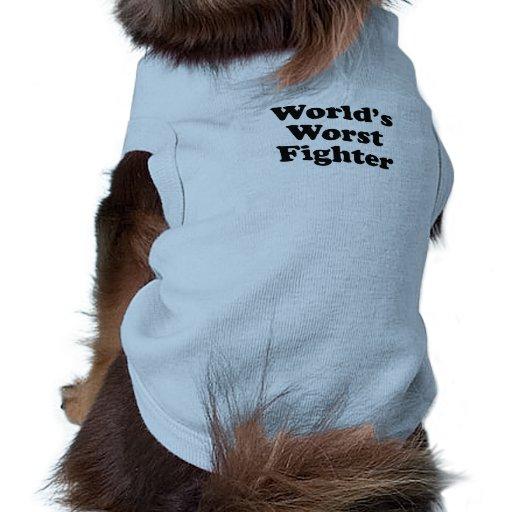 El combatiente peor del mundo camisetas de perrito