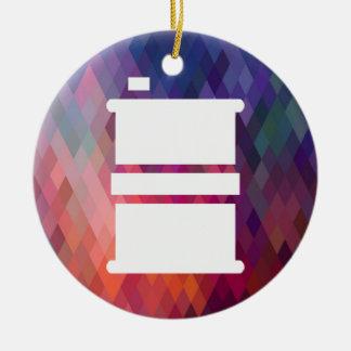 El combustible teclea el pictograma adorno redondo de cerámica