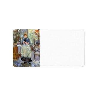 El comedor de Berthe Morisot Etiqueta De Dirección