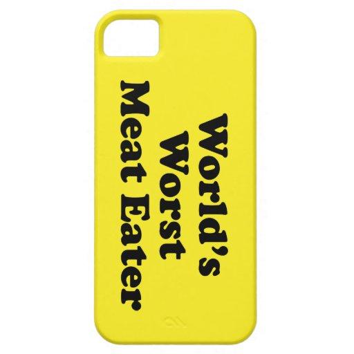 El comedor peor de la carne del mundo iPhone 5 funda