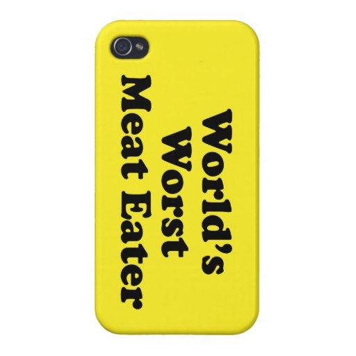 El comedor peor de la carne del mundo iPhone 4 cárcasas