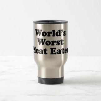 El comedor peor de la carne del mundo taza de viaje