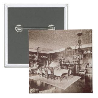 El comedor, Wickham Pasillo, Kent, 1897 Pin Cuadrado