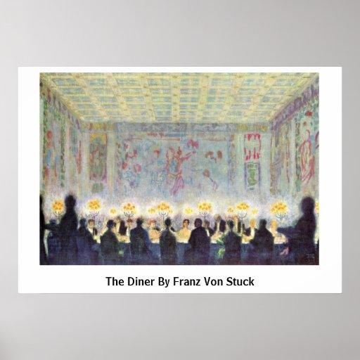 El comensal de Francisco Von Stuck Posters