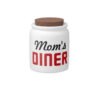 El comensal de la mamá jarras para caramelos