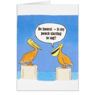 El comenzar a ceder en edad avanzada tarjeta de felicitación