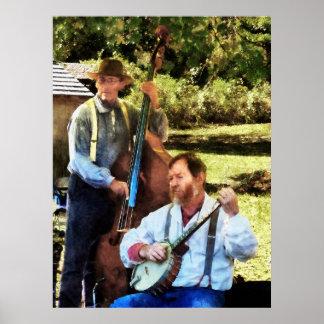 El COMENZAR DEBAJO de $20 - banjo y bajo Póster