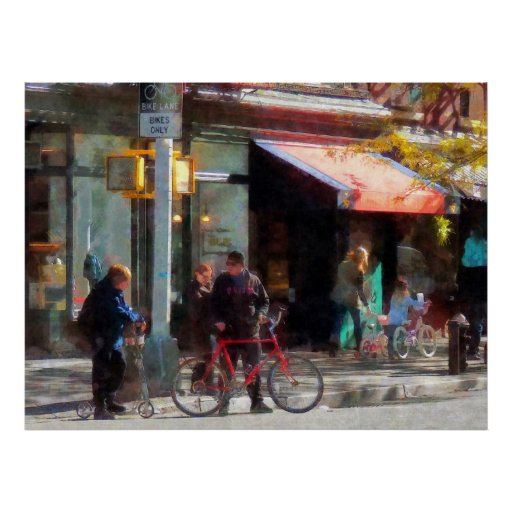 El COMENZAR DEBAJO de $20 - carril de la bici Póster