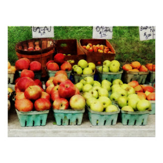 El COMENZAR DEBAJO de $20 - manzanas en el mercado Poster