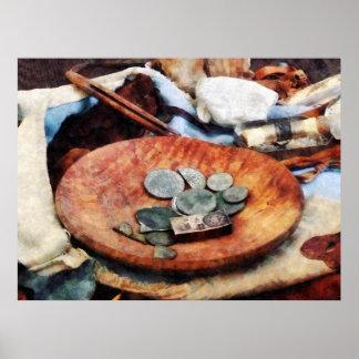 El COMENZAR DEBAJO de 20 - monedas coloniales Impresiones