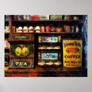 El COMENZAR DEBAJO de $20 - té y café Posters