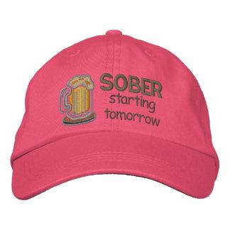 El comenzar sobrio mañana gorra de beisbol bordada