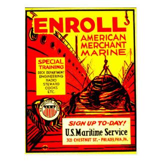 El comerciante americano Marino-Alista hoy Postal