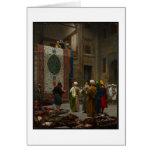 El comerciante de la alfombra, c.1887 (aceite en l tarjeta de felicitación