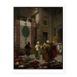 El comerciante de la alfombra, c.1887 (aceite en tarjeta postal