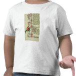 El comerciante, detalle del facsímil de camisetas