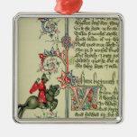 El comerciante, detalle del facsímil de ornamento de navidad