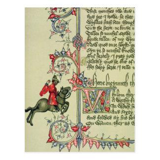 El comerciante, detalle del facsímil de tarjeta postal