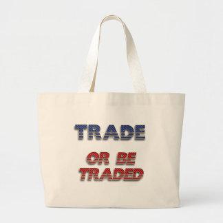 El comercio de la empresa libre o sea bolso negoci bolsa tela grande