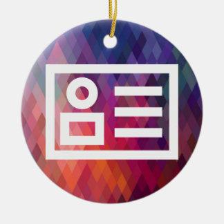 El comercio electrónico planea el pictograma adorno redondo de cerámica