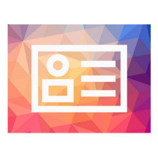 El comercio electrónico planea el pictograma tarjetas postales